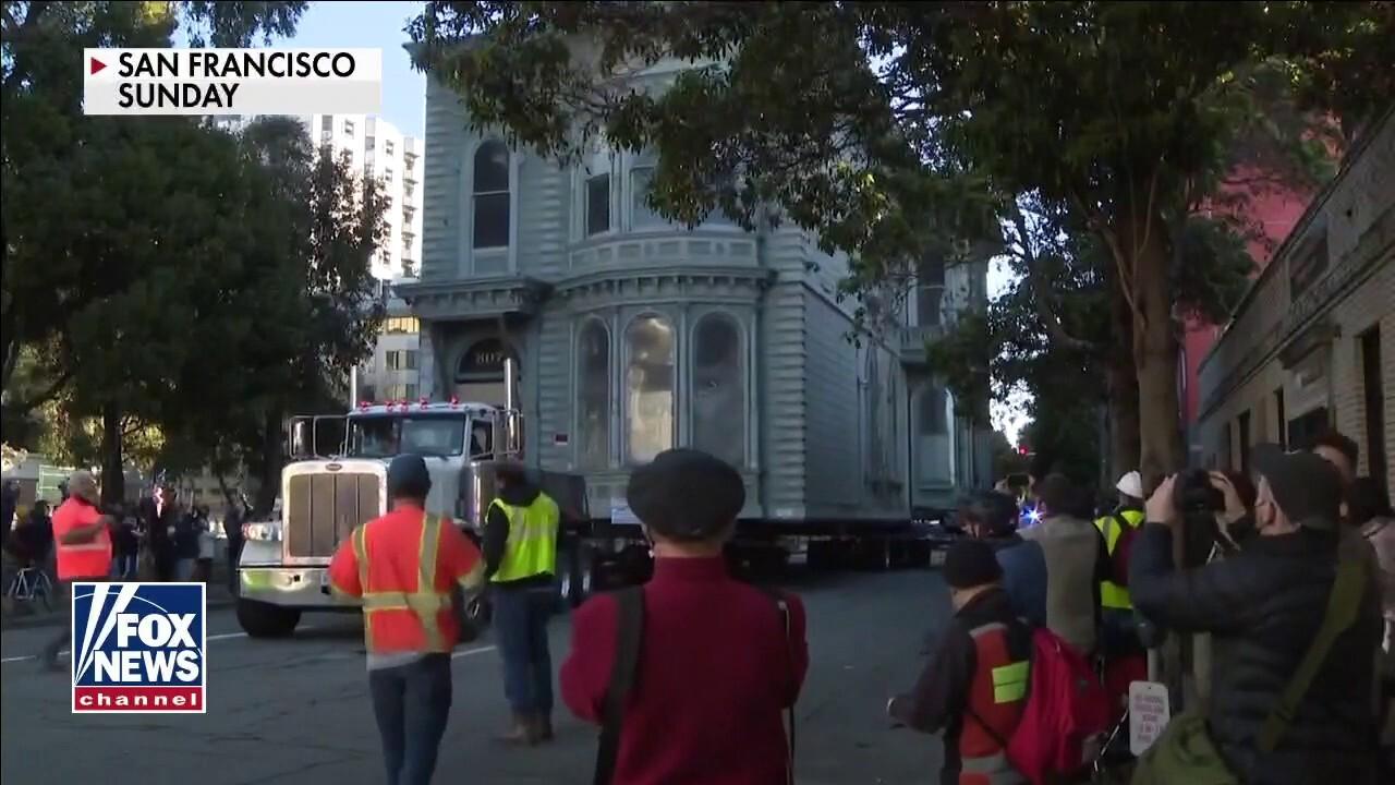Historic San Francisco home moved 6 blocks away