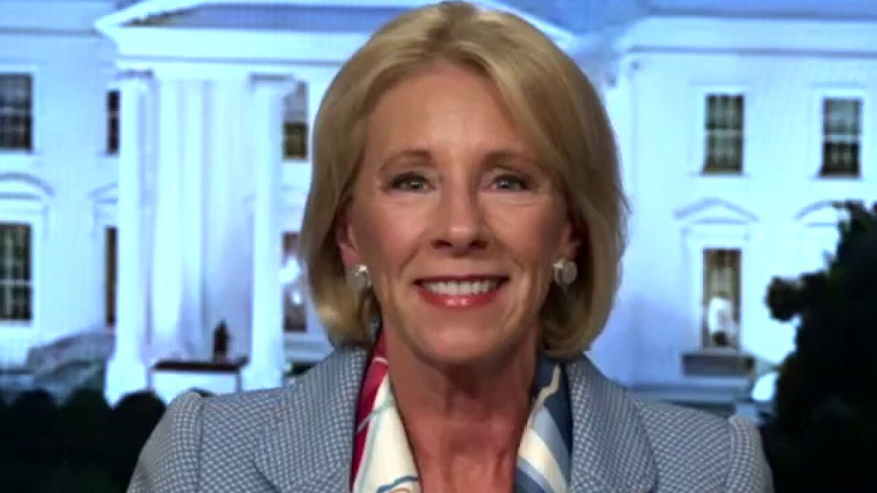 Kids have got to go back to school and continue their learning, says Education Secretary Betsy DeVos.