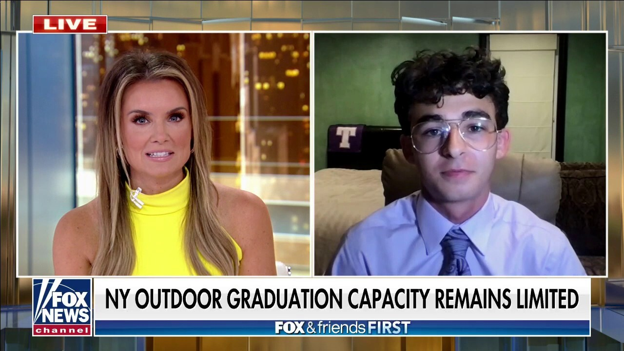 New York high school's outdoor graduation limited to 500 people