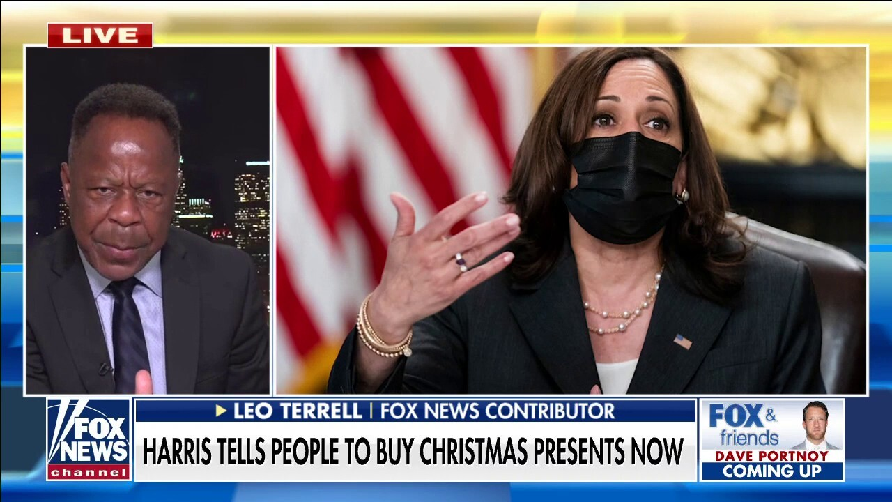 Leo Terrell slams Harris' 'frightening' remark on Christmas shopping