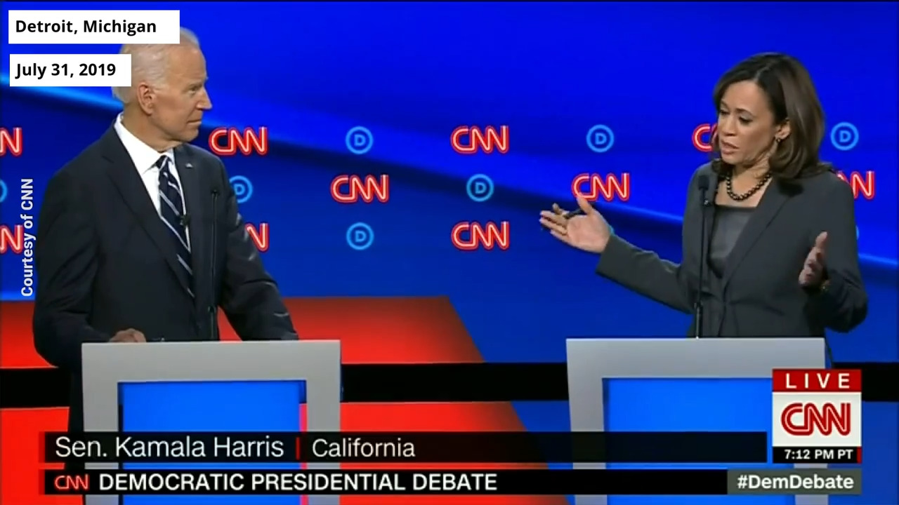Sen. Kamala Harris criticizes Former VP Joe Biden's record on the Hyde Amendment