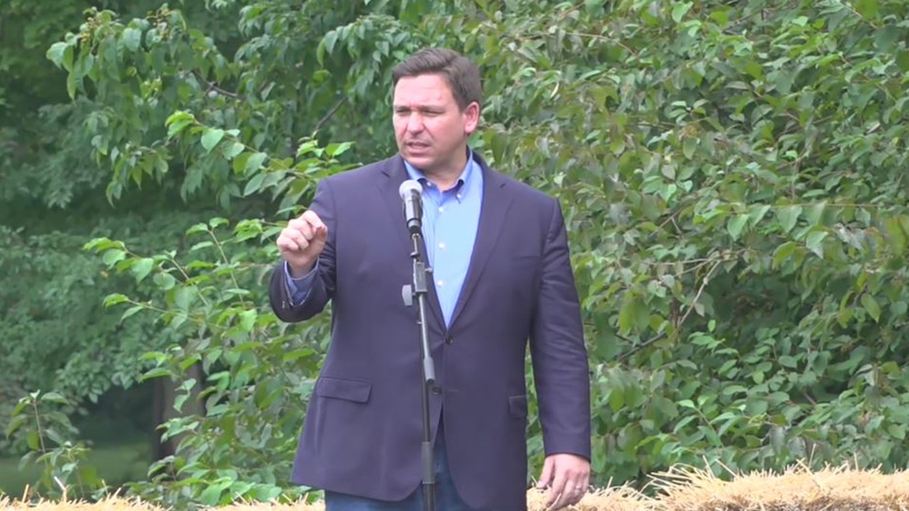 DeSantis vows to fight Biden, stand up for freedom and the Constitution