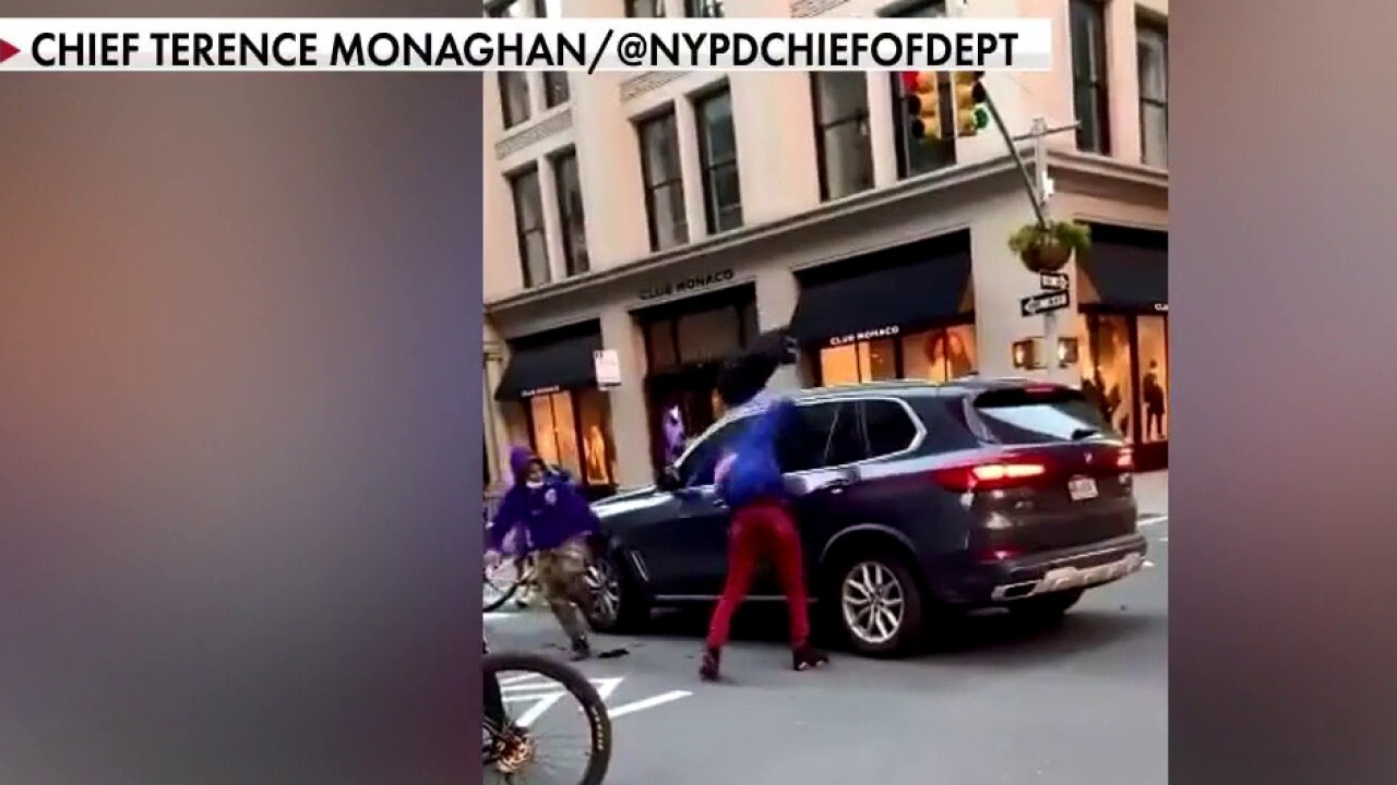 Teen arrested in New York City attack on SUV in broad daylight