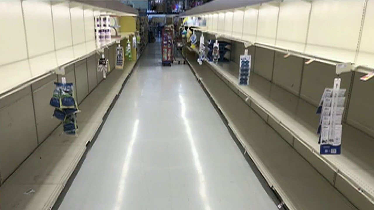 Grocery stores working to keep shelves stocked, accommodate elderly customers