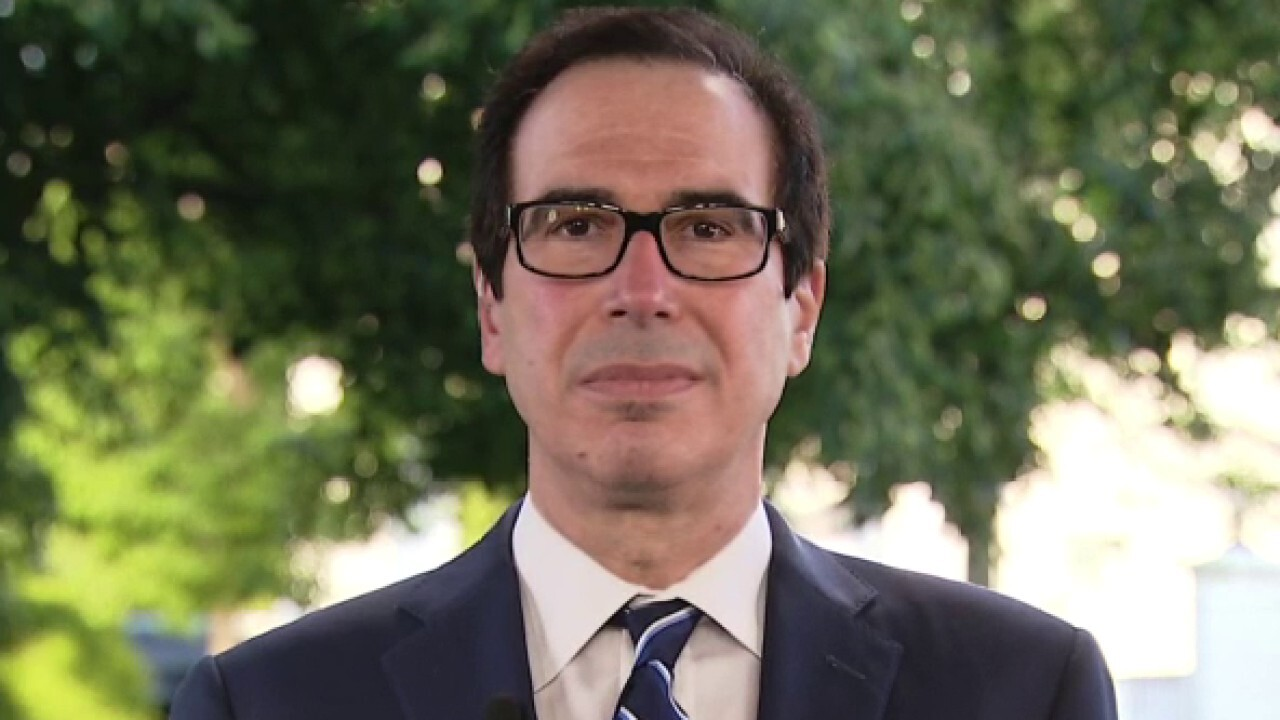 Treasury Secretary Steven Mnuchin discusses the importance of taking advantage of low-interest rates and points to why taxpayer money can't be spent frivolously with regard to passing stimulus packages in Congress.