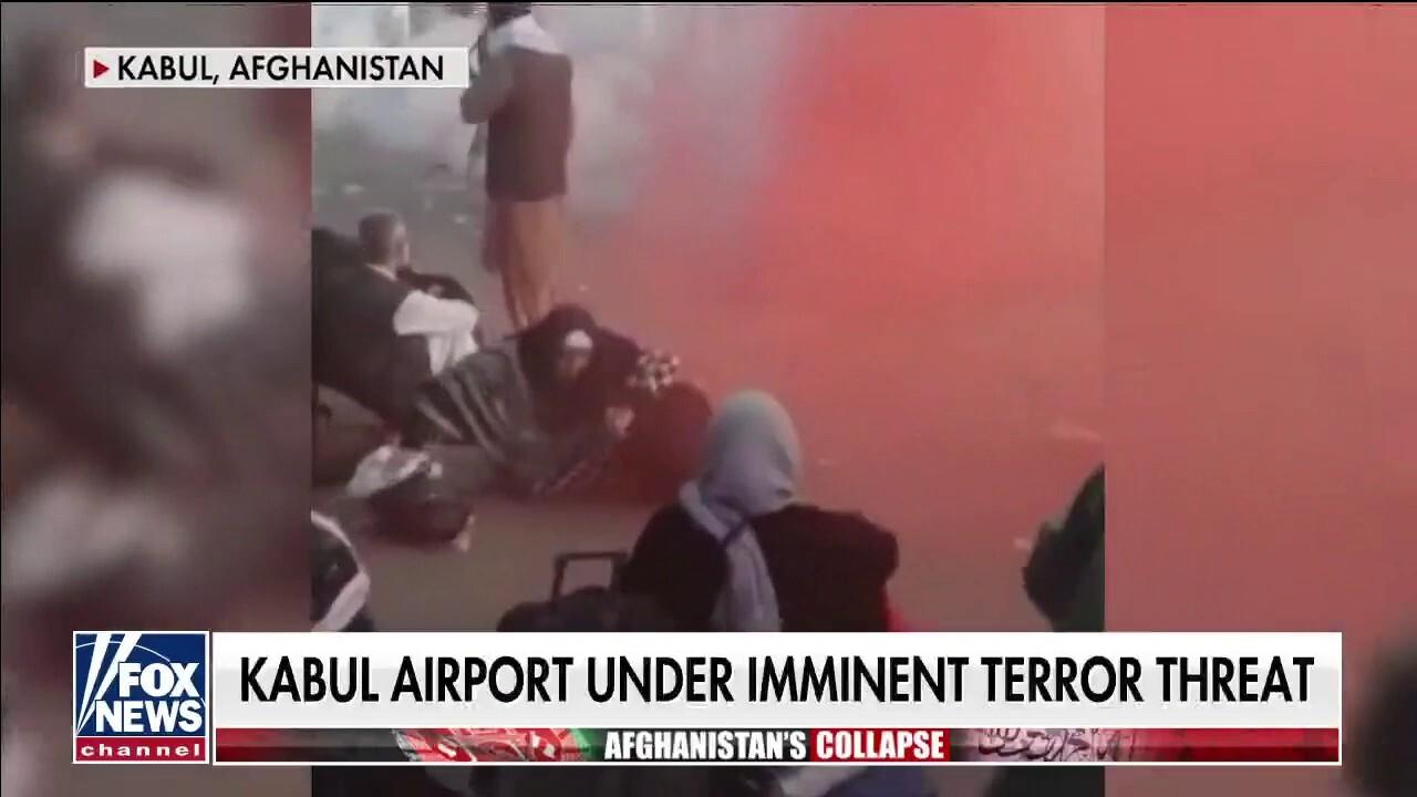 Taliban using tear gas outside Kabul airport