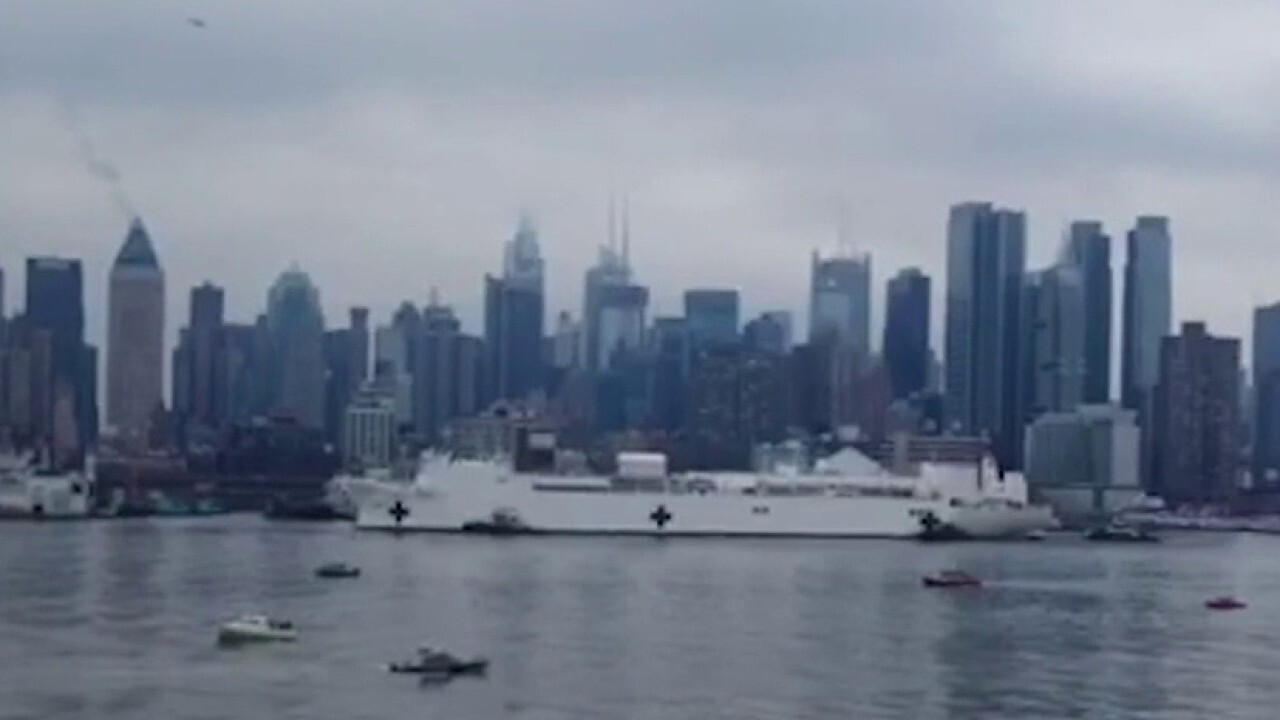 US Navy hospital ship arrives in NYC to relieve overcrowded hospitals
