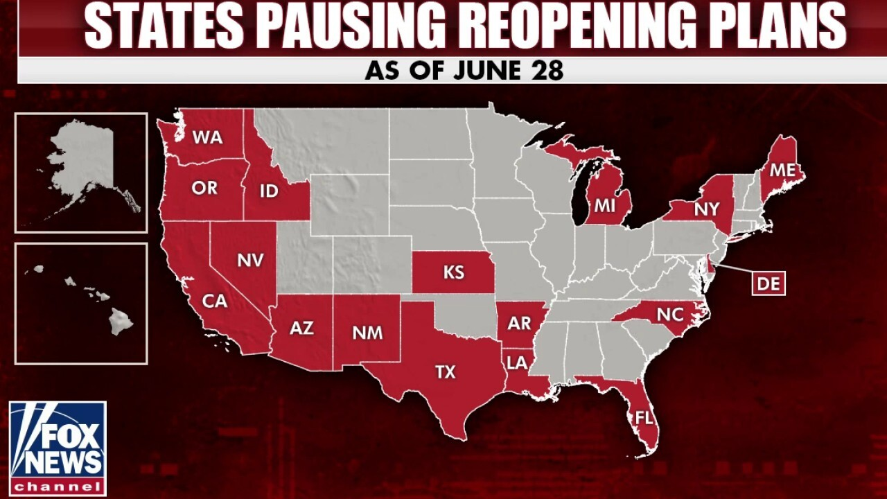 17 states pause reopening plans as American Academy of Pediatrics advocates for schools to open