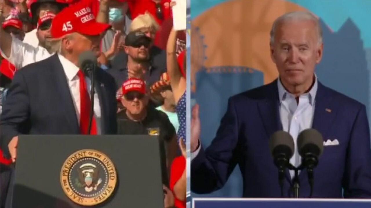 Trump, Biden stage campaign rallies in battleground Florida