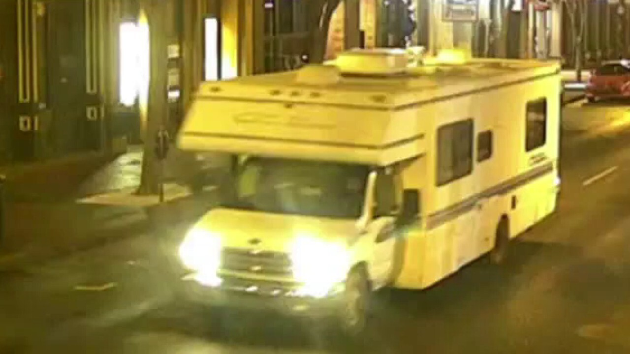 Audible warning broadcasts from RV before Nashville blast
