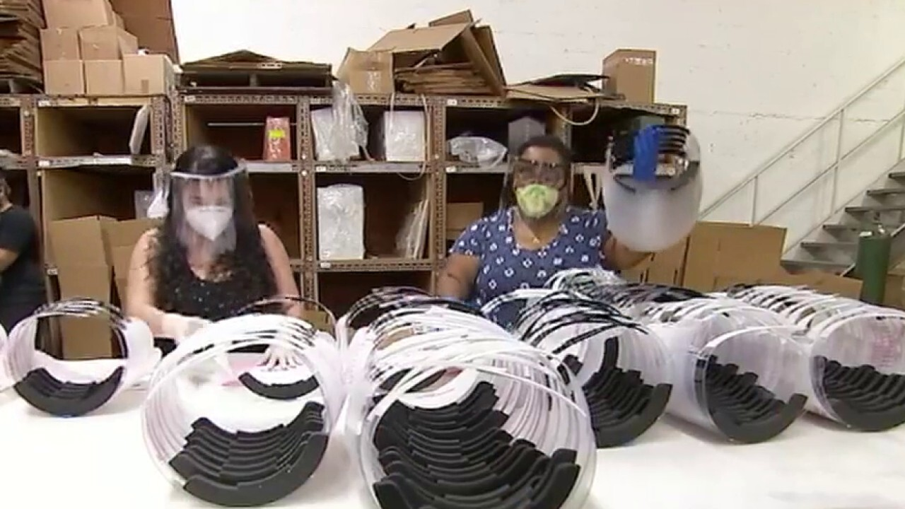 US factories shift to making face masks, hand sanitizer during COVID-19 pandemic