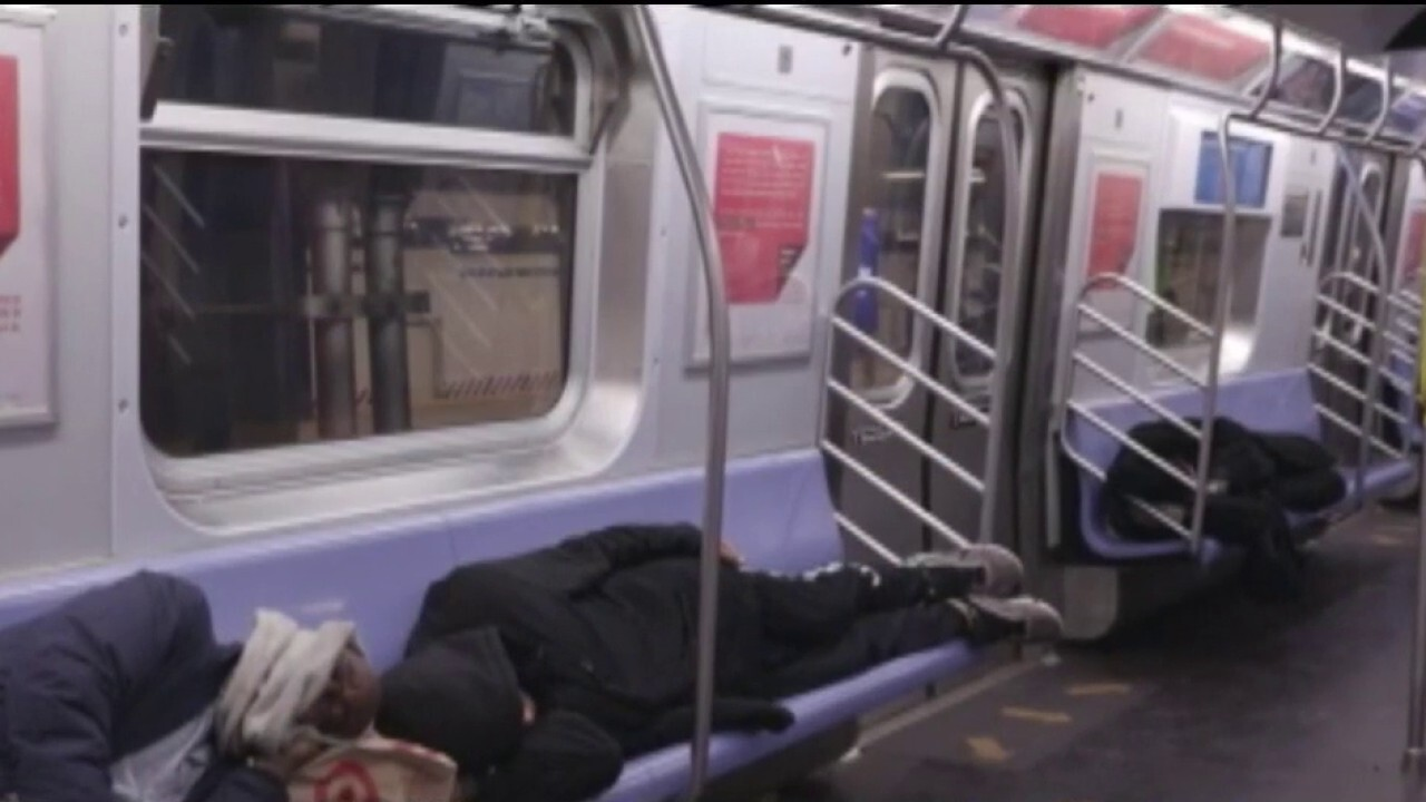 Homeless seek refuge in NYC subways amid COVID-19 pandemic