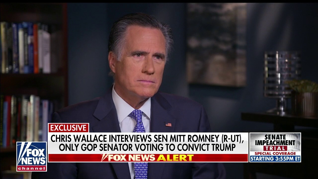 Westlake Legal Group image Fox News Exclusive: Romney says he had to follow 'conscience' on vote to convict Trump, expects 'enormous consequences' Tyler Olson fox-news/politics/trump-impeachment-inquiry fox-news/person/mitt-romney fox-news/media/fox-news-flash fox news fnc/politics fnc e3bd42ee-2507-5bfd-8c51-c4c13008dbfd article