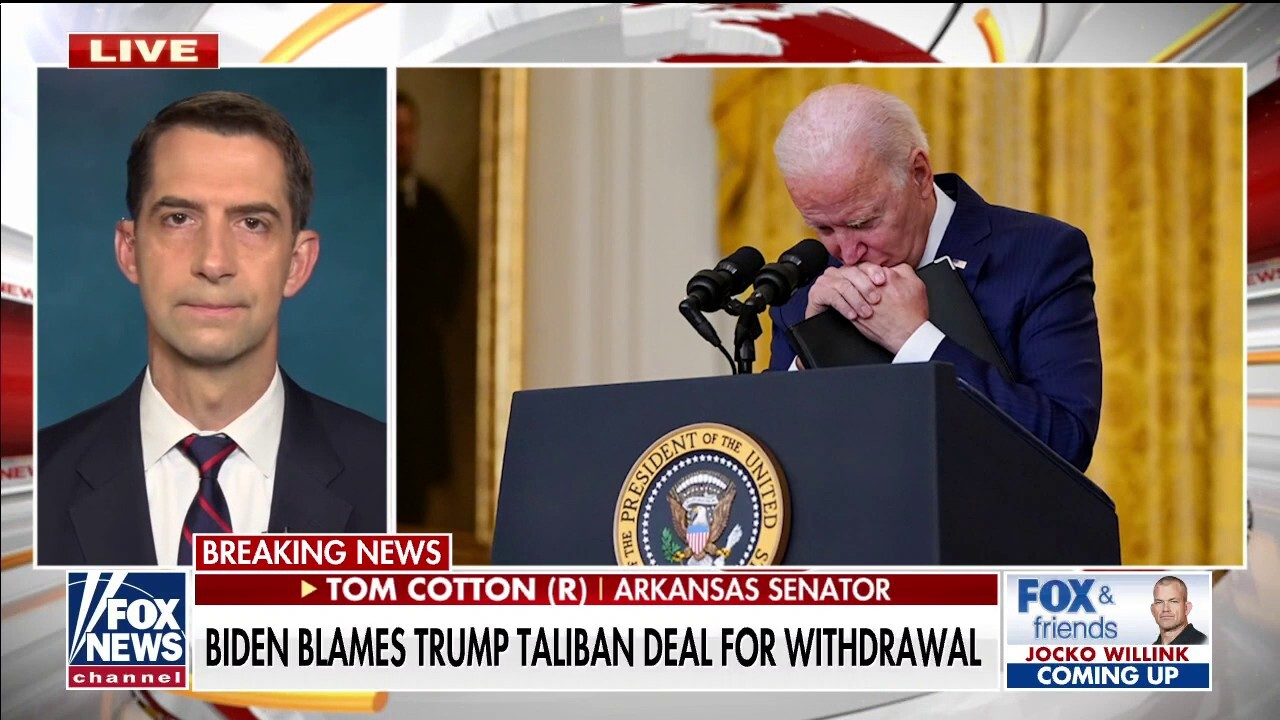 Sen. Cotton: Biden needs to reverse course, go after terrorists who killed Americans in Afghanistan
