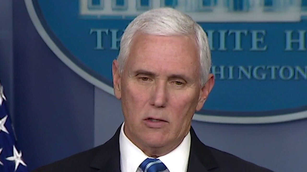 Pence: If we continue mitigation efforts, by early summer much of the coronavirus epidemic will be behind us