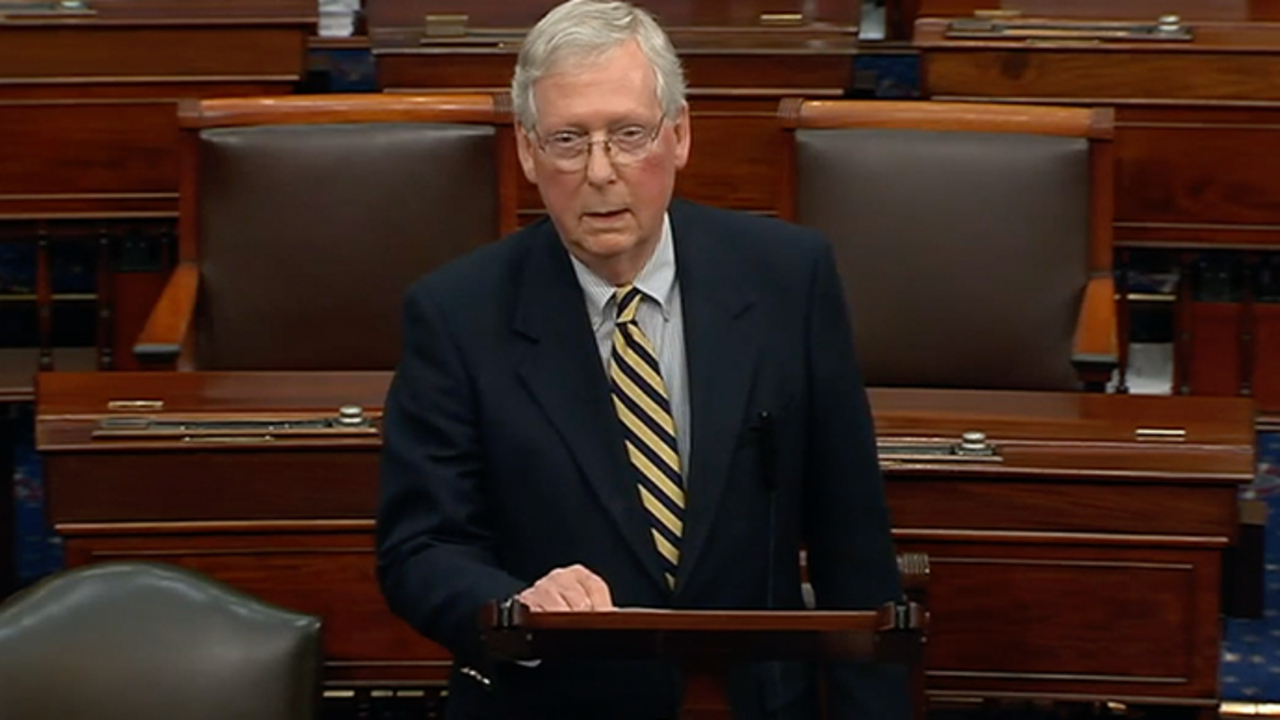 McConnell blasts Democrats over coronavirus aid package