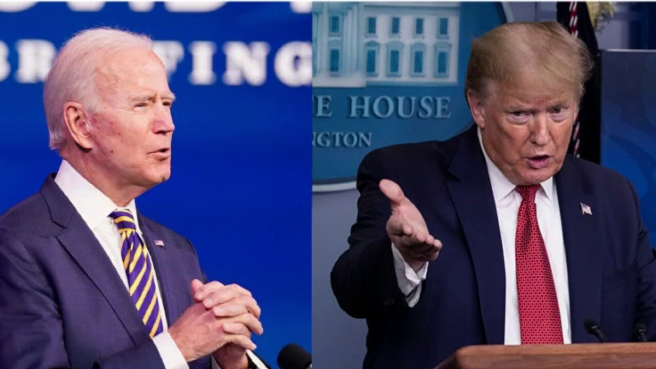 Biden outlines plan to combat coronavirus as Trump touts vaccine success