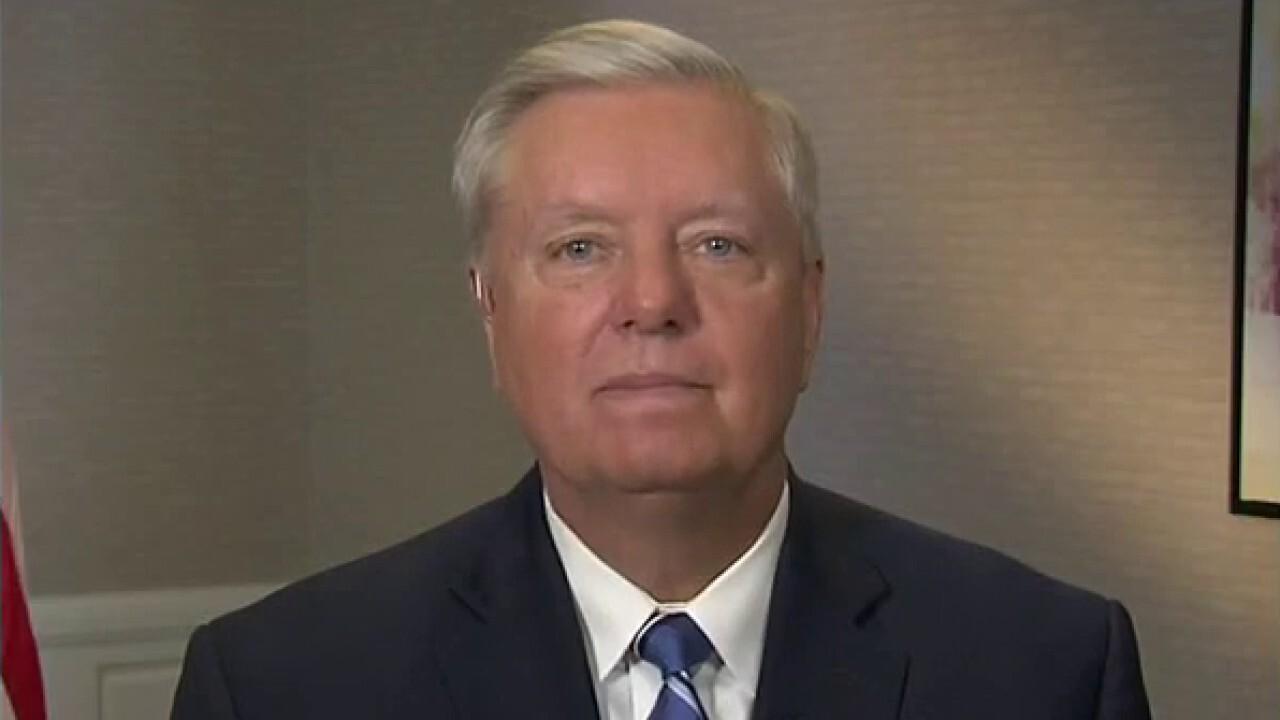 Sen. Graham on migrant surge and Biden's effort to tie infrastructure, spending bills