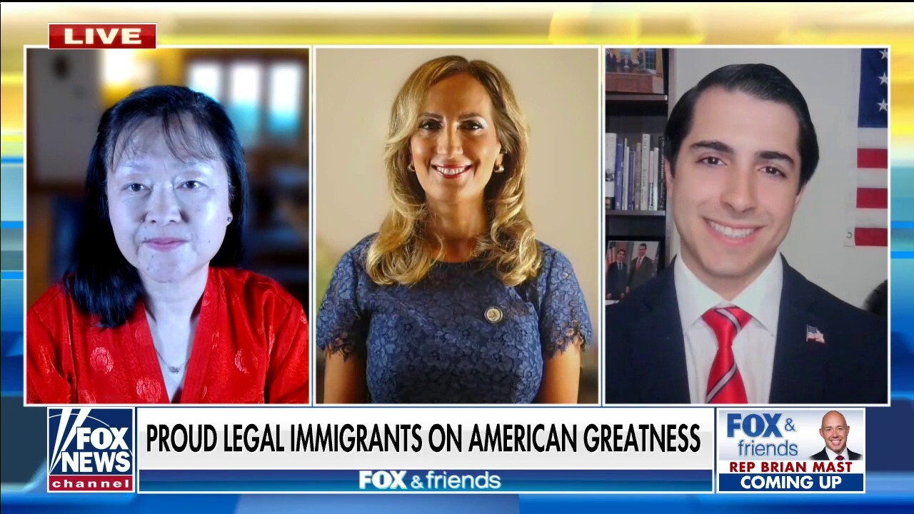 Proud legal immigrants on American greatness