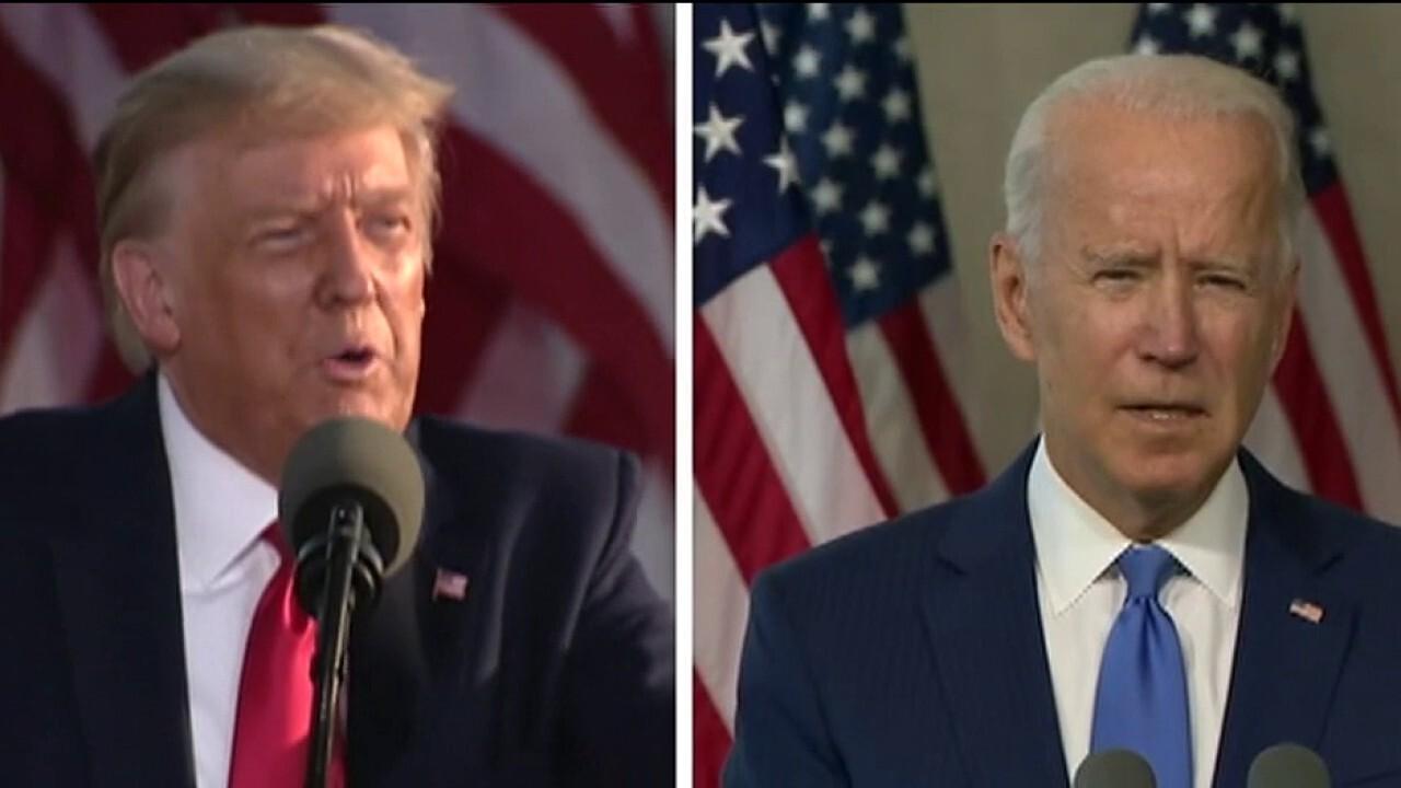 No handshakes between Biden and Trump at first debate