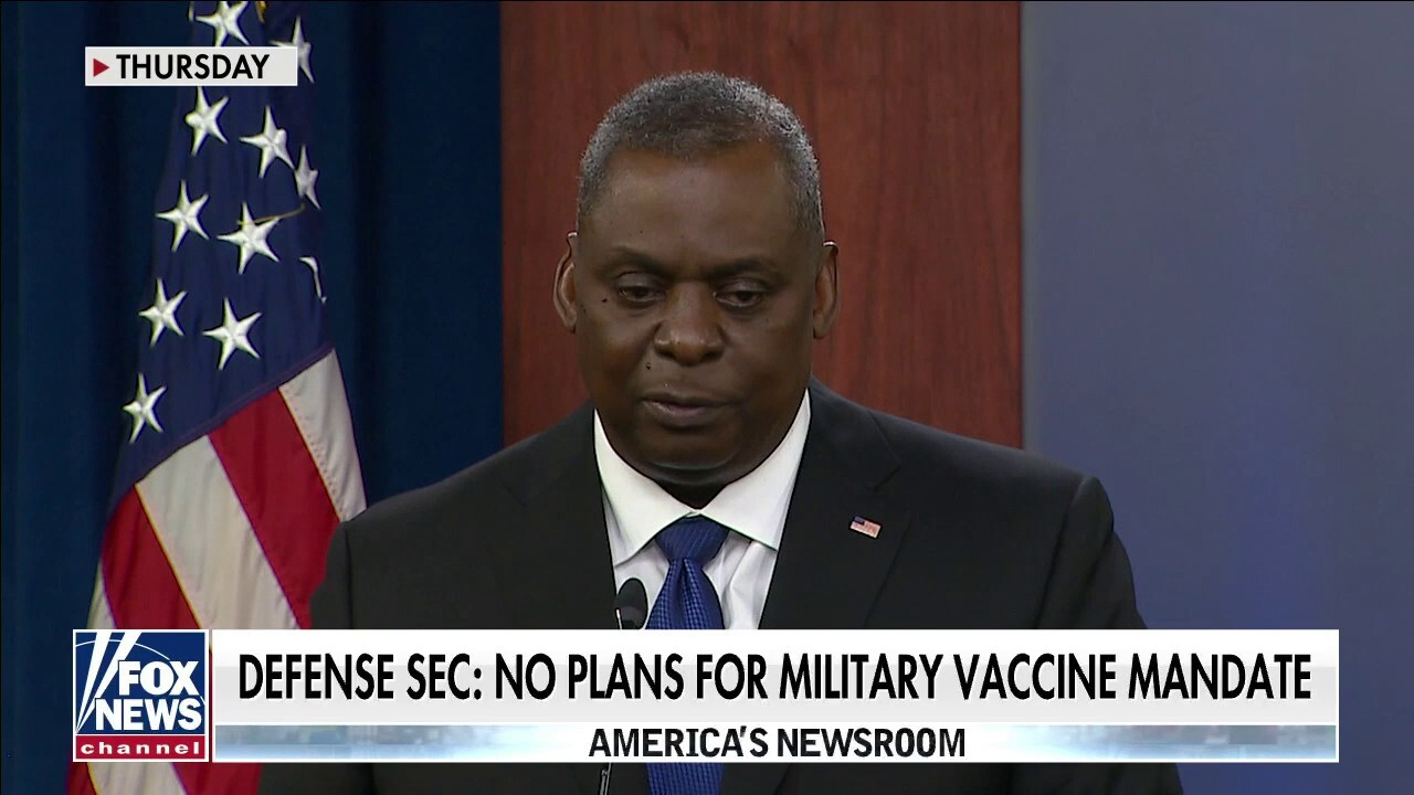 Defense Secretary Austin says no plans for mandating service members to receive COVID vaccine