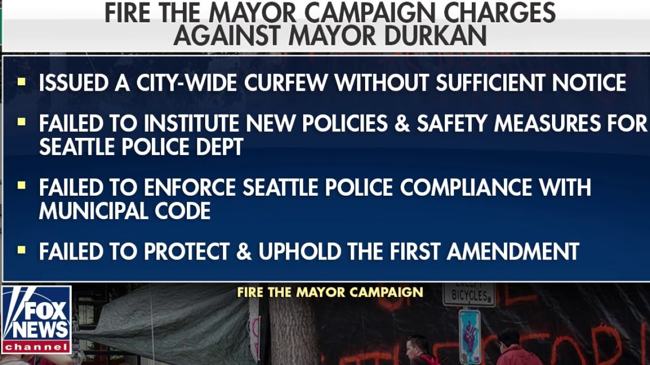 Judges rules petition to fire Seattle Mayor Jenny Durkan can move forward