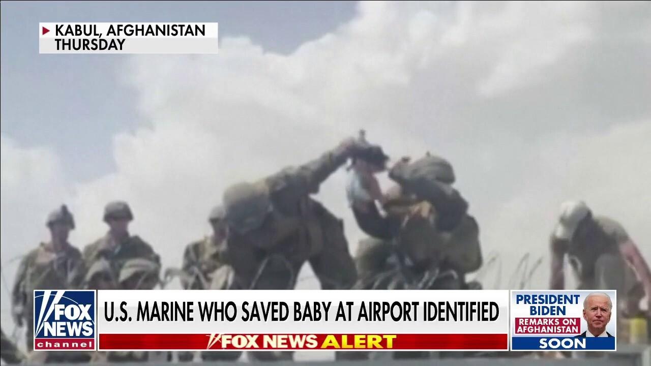 U.S. Marine who saved baby at Kabul airport identified