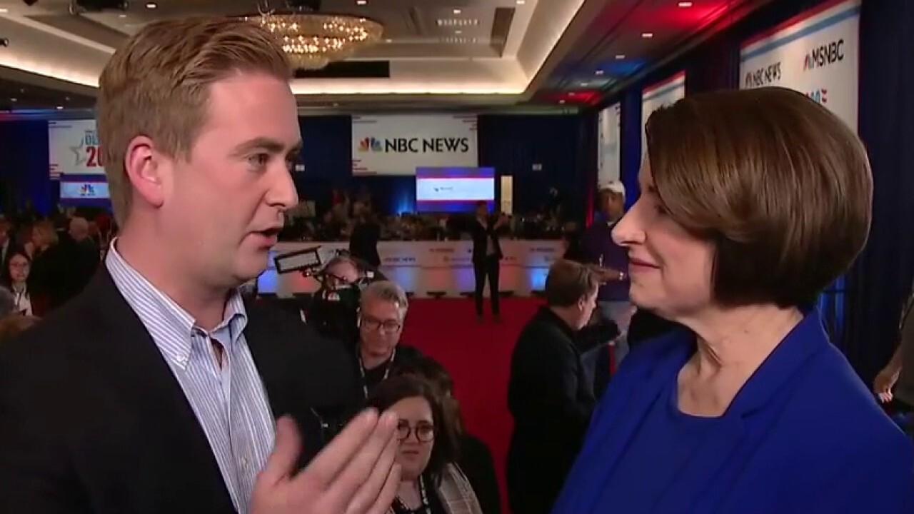 Klobuchar spars with Bloomberg, Buttigieg at Las Vegas debate