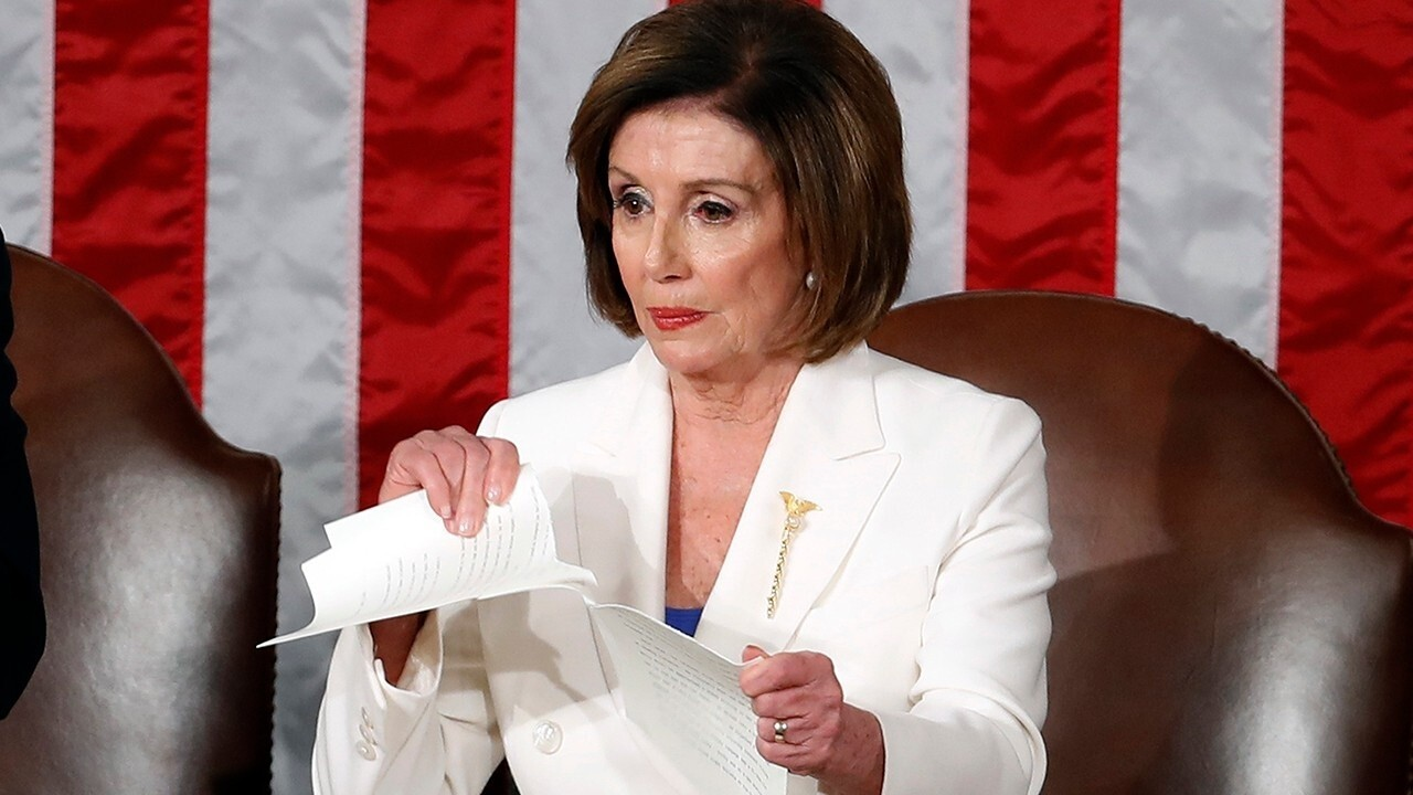 Democrats outraged over Turning Point USA video of Nancy Pelosi ripping up State of the Union address