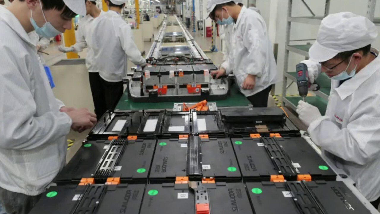 Major percent of electric car batteries are made in China