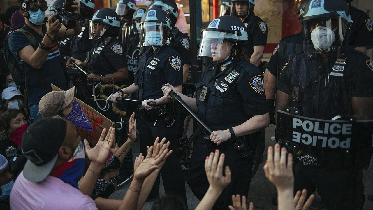 Peaceful protests turn violent in New York City