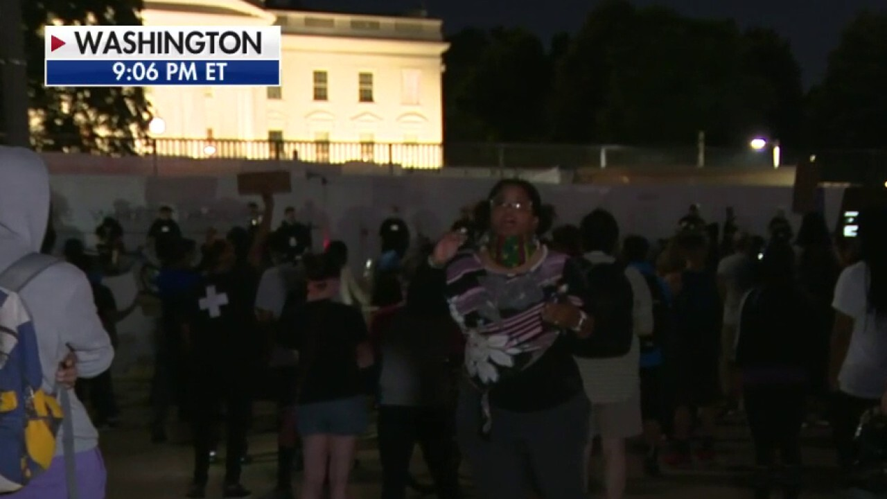 White House locked down after protesters breach barricade