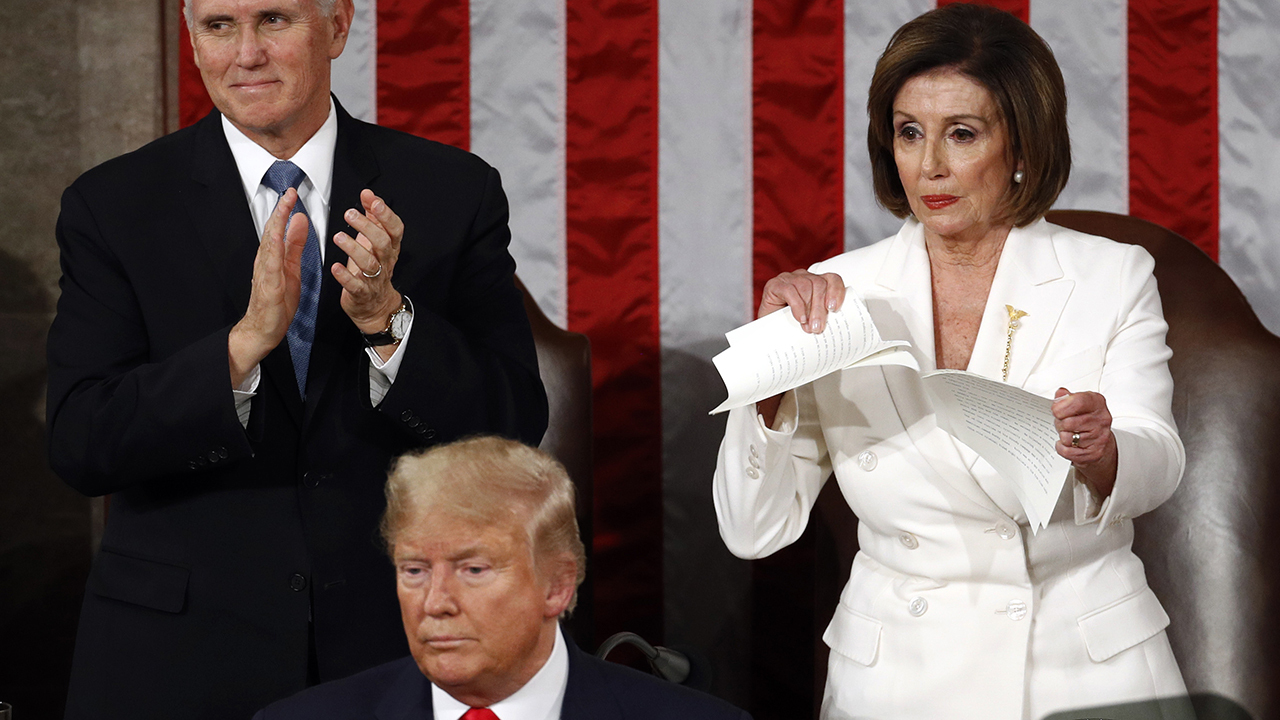 Dems demand Twitter, Facebook take down edited video of Pelosi ripping up State of the Union speech posted …
