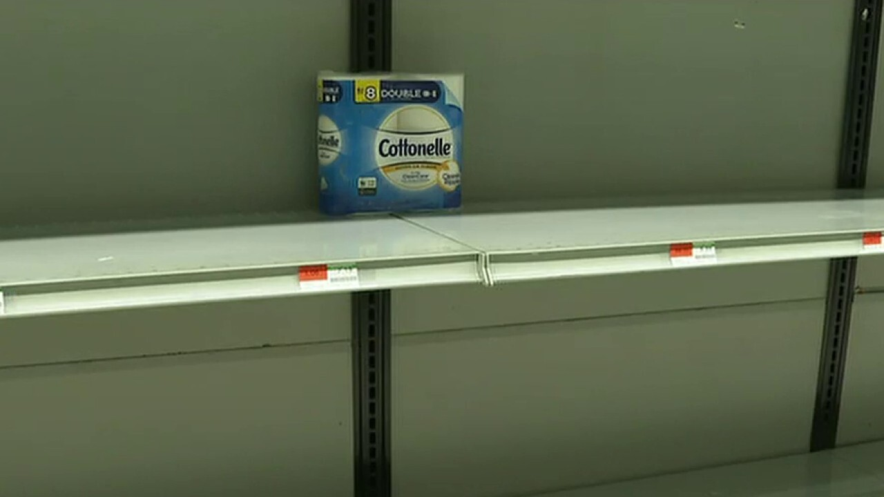 Coronavirus panic leaves some grocery stores' shelves bare