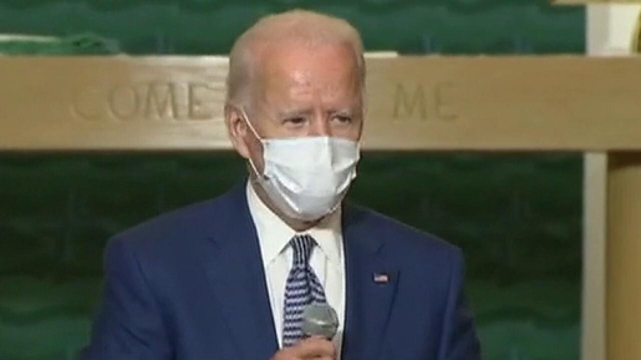 Joe Biden speaks with Jacob Blake two days after President Trump surveyed damage in Kenosha