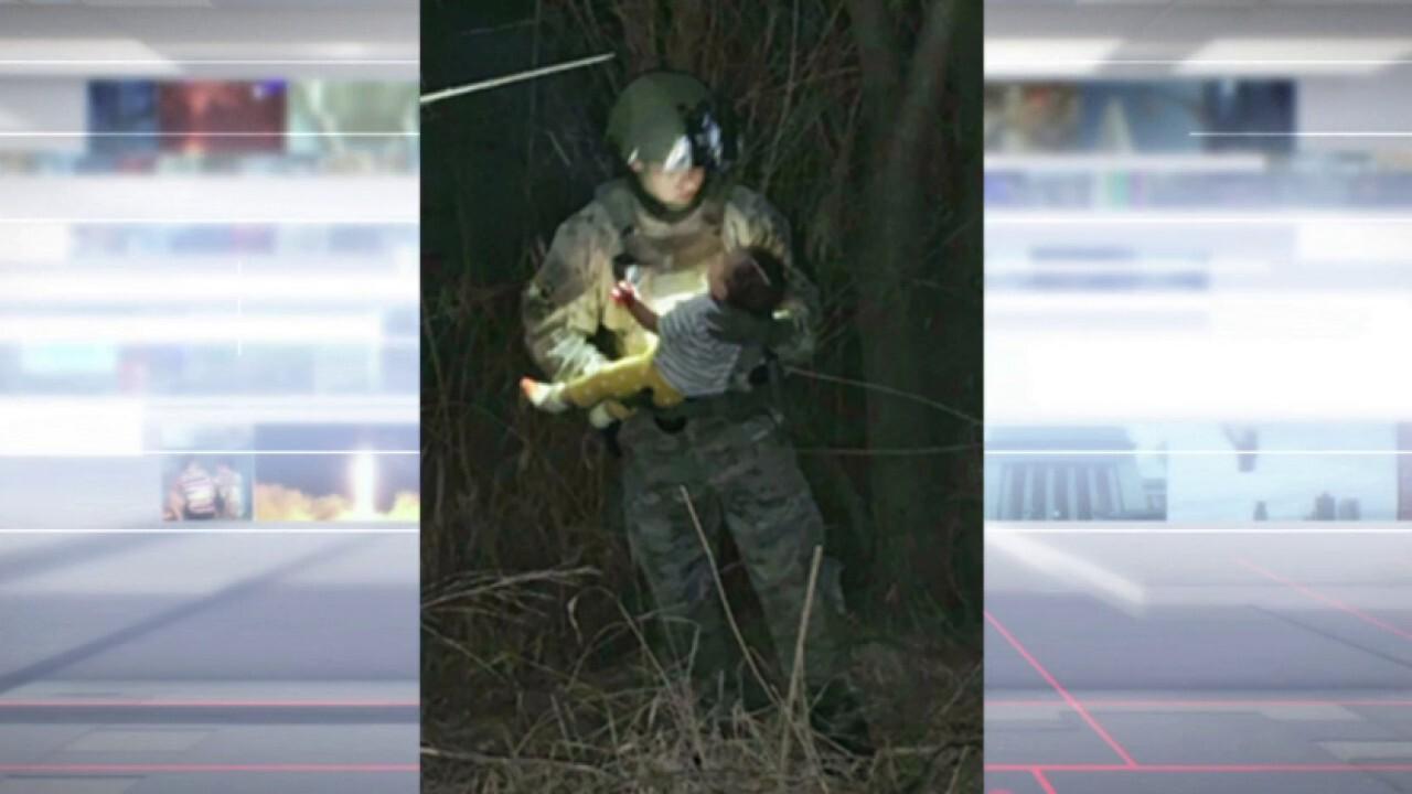 Texas Rangers rescue baby thrown into Rio Grande by smugglers