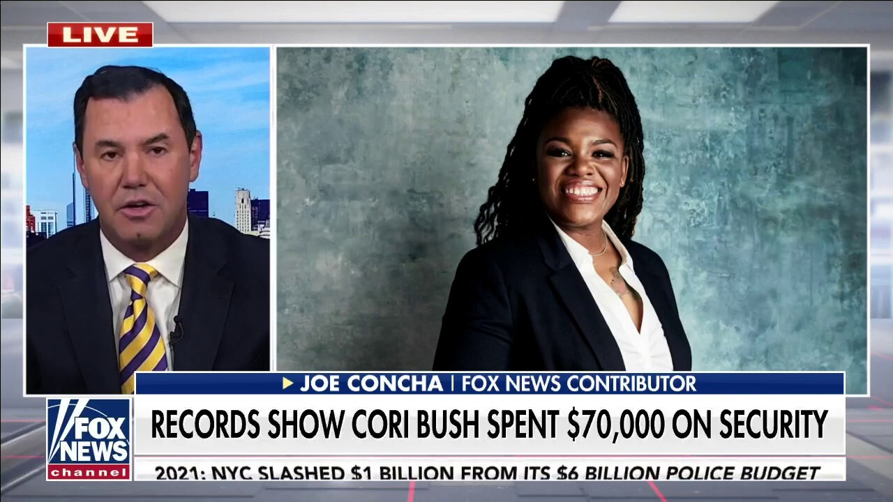 Concha rips pro-defund police Dem Cori Bush for spending nearly $70k on security: 'Rules for thee, not for me'