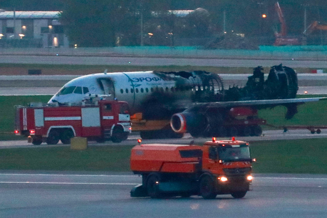 New footage shows fiery plane crash in Russia