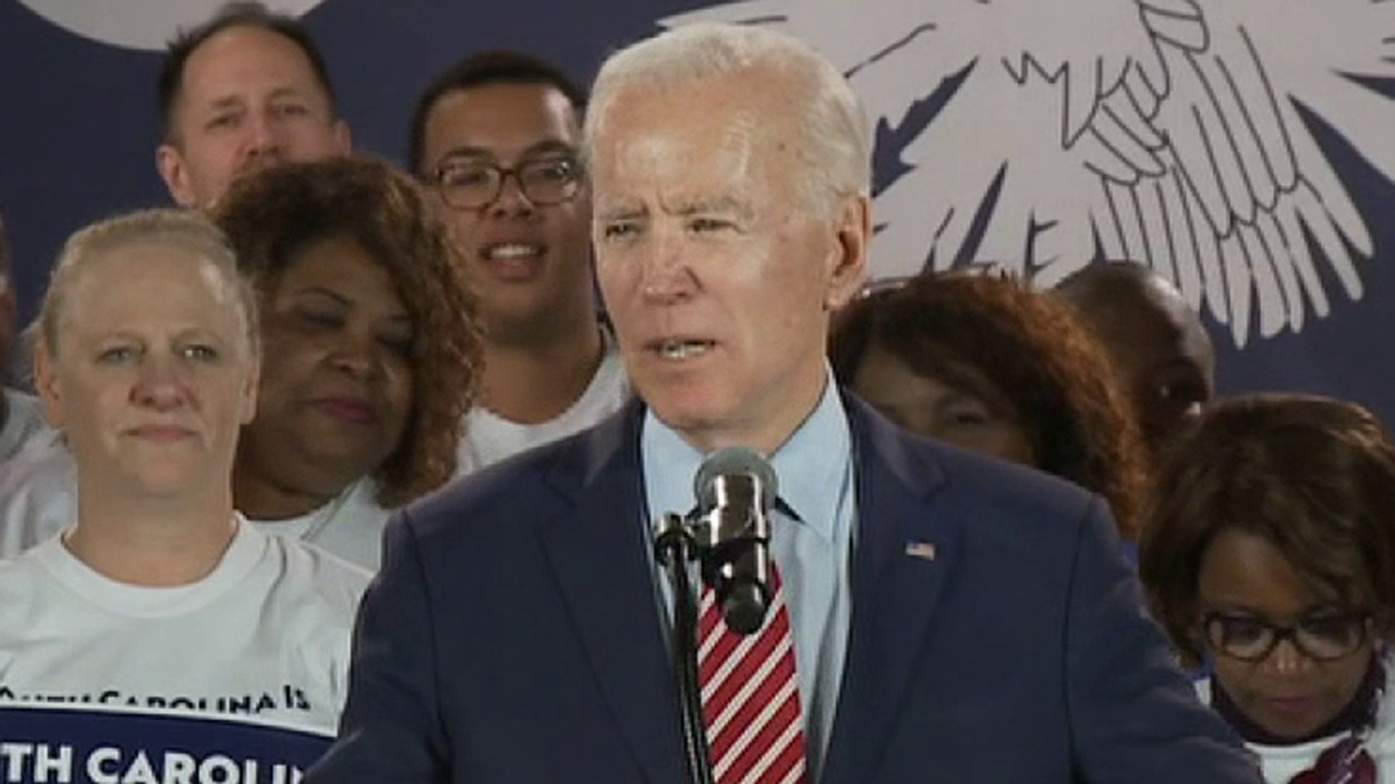 Joe Biden speaks at a kick off rally for his South Carolina campaign