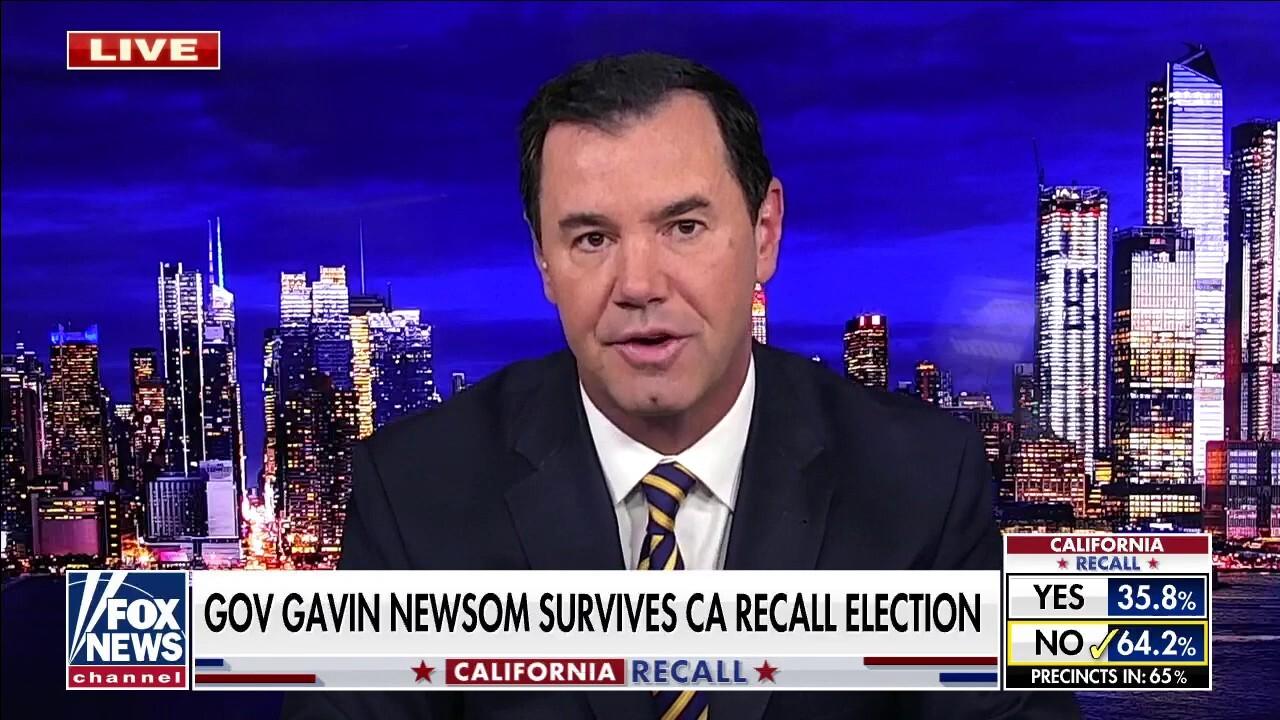 Joe Concha: Newsom victory won't erase California's homelessness, crime, high taxes