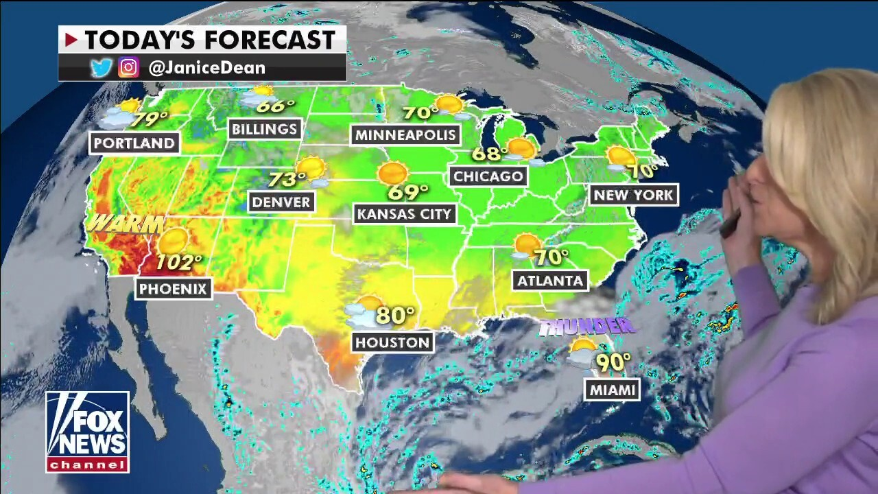 National weather forecast, May 13
