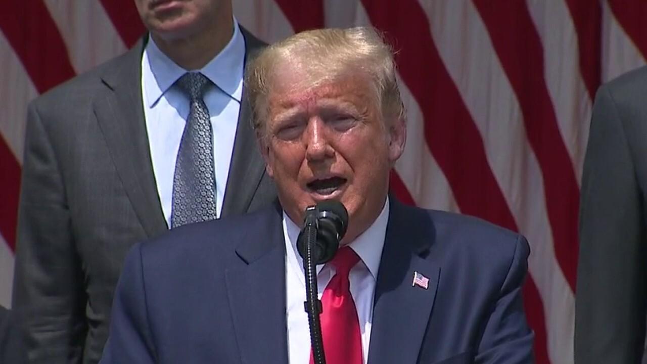 President Trump says America's economic recovery has begun