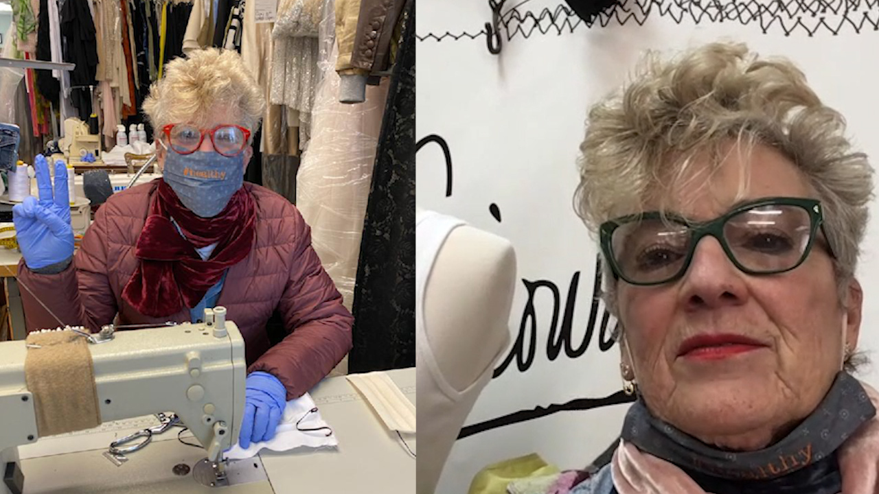 Exclusive: New York dressmaker makes face masks to help community against coronavirus