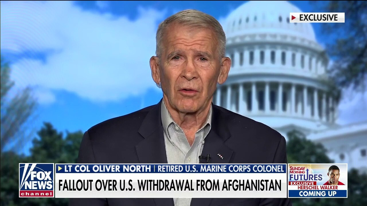 Lt. Col. Oliver North pushes for answers on 'giving away' Bagram Air Base