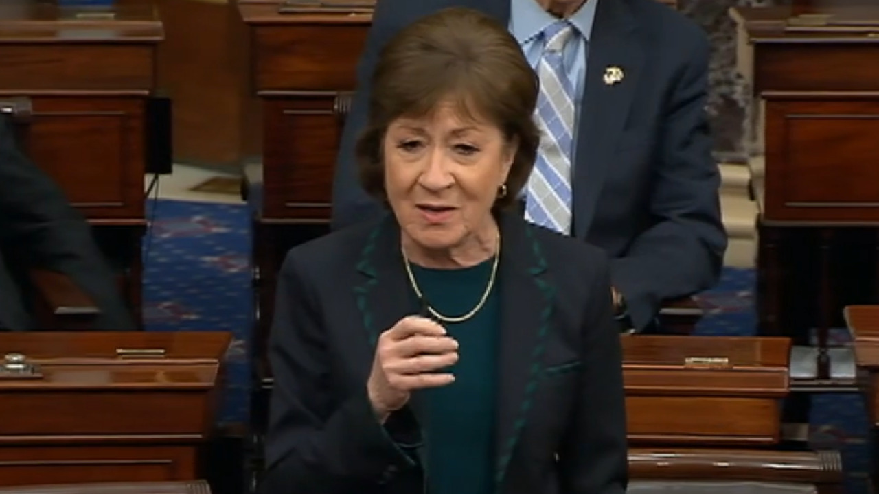 Sen. Collins unloads on Dems in coronavirus floor speech: 'We don't have another minute to delay acting'
