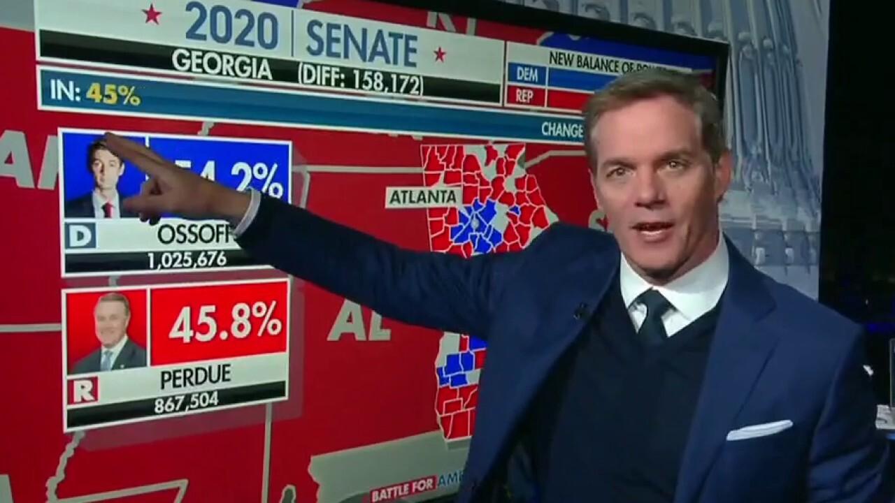 Initial Georgia Senate runoff results favor Democrat candidates