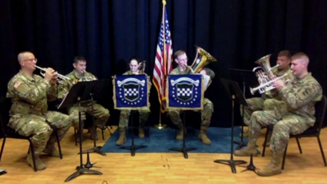 78th Army Band performs 'Star-Spangled Banner' for Independence Day