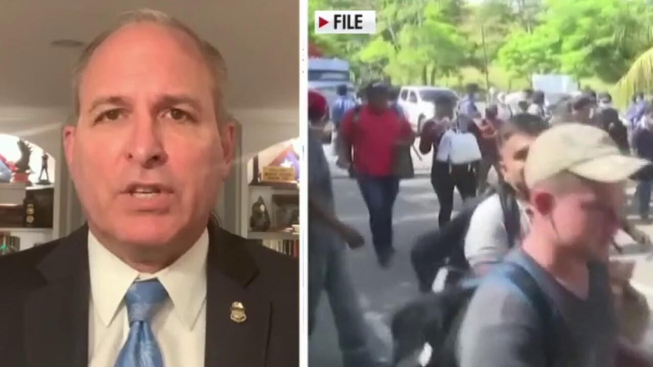 Illegal caravans headed to border due to Biden's 'open door policy': Mark Morgan