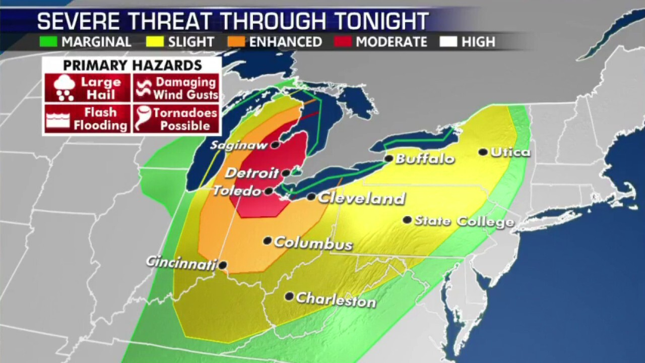 National forecast for Wednesday, June 10