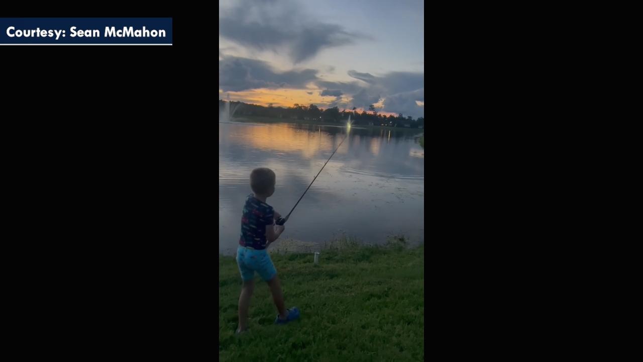 Alligator steals Florida boy's fishing rod